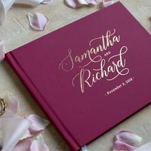 Персонализированная Свадебная Гостевая книга бордового цвета, Свадебная Гостевая книга марсала, свадебные фотоальбомы бордового цвета на заказ