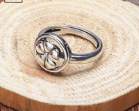 Ms S925 pure silver restoring ancient ways ring fashion petals ring rotating ring opening fashionable silver ornament