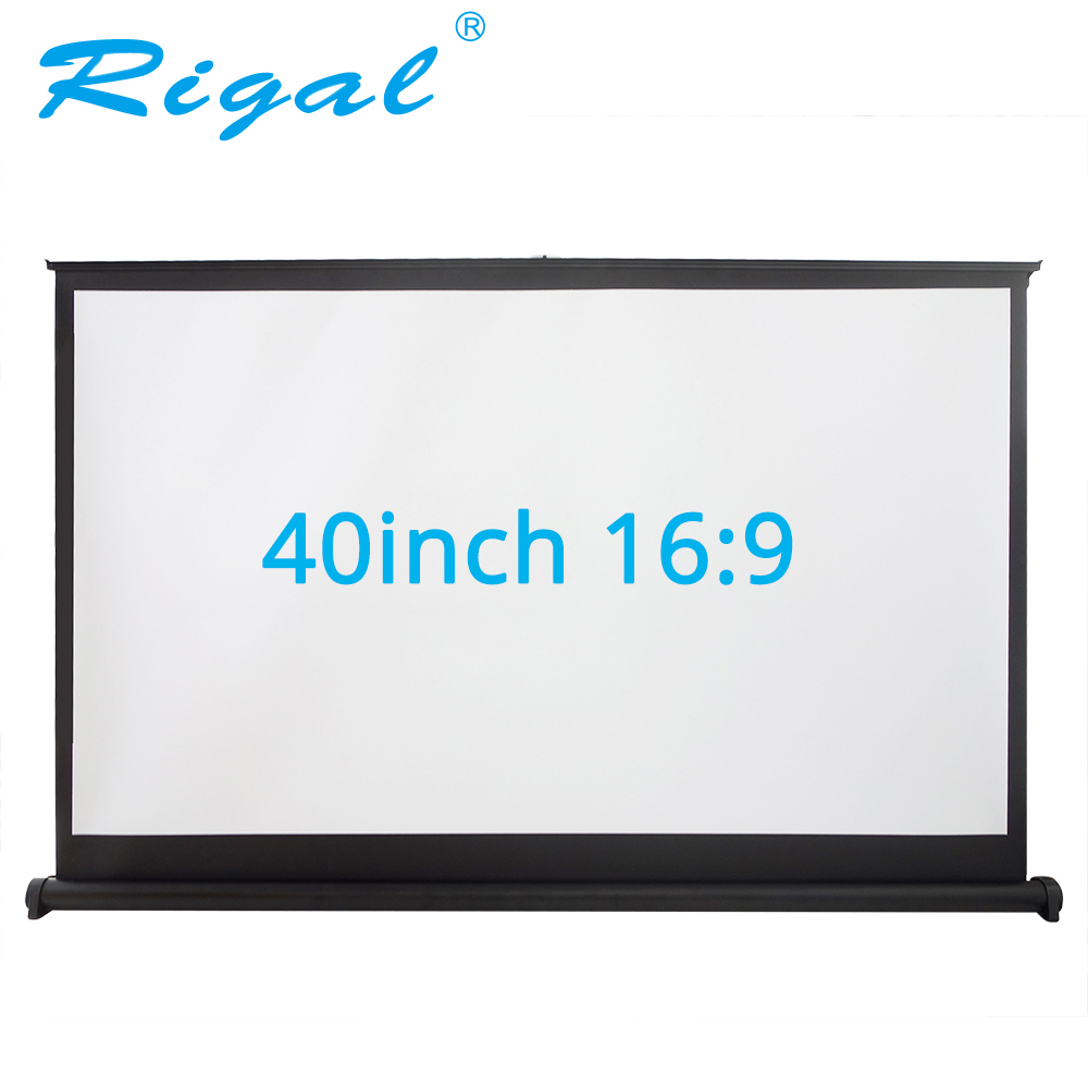 Rigal 40 inch 50 in16:9 Projector Portable Screen Table Screen Matte White Tabletop Projection Screen For Office Business Travel