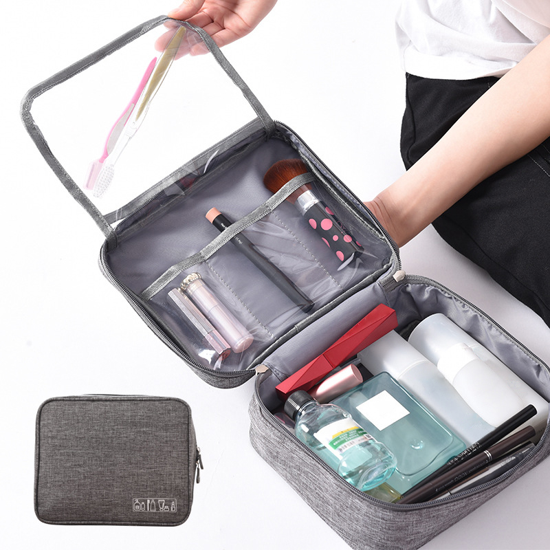 Men's Cosmetic Bag Waterproof Polyester Travel Makeup Organizer Beauty Brush Toiletry Multifunction Wash Pouch Accessories Items