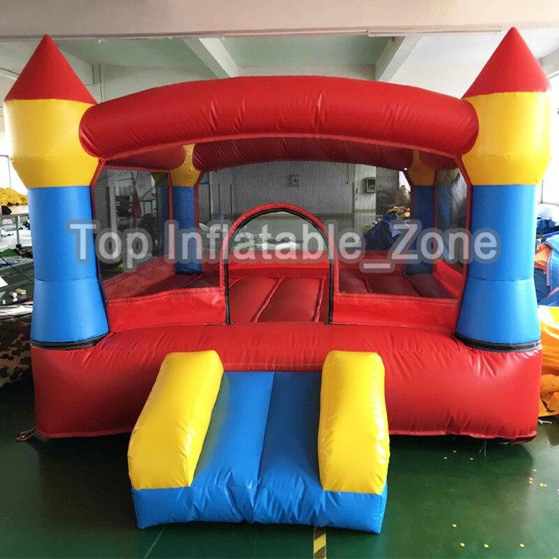 Надувные батуты из ПВХ, надувной замок, безопасный для детей, гладкий с воздуходувкой, двойные горки, надувной батут, батуты