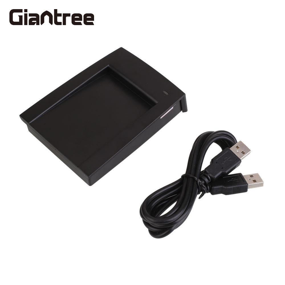 Giantree Portable 125Khz RFID Reader EM4100 TK4100 USB Proximity Sensor Smart RFID Card ID Reader with Cable free shipping 125khz rfid reader usb proximity sensor smart card reader 2pcs 125khz rfid em4100 keyfobs