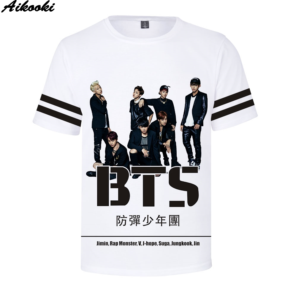 9b58daf2 T-Shirts Cheap T-Shirts Hot Sale 3D Korea BTS Print T Shirt.We offer the  best wholesale price, quality guarantee, professional e-business service  and fast ...