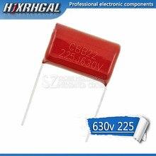 10PCS 630V225J Pitch 25MM 2.2UF 2200NF 225 630V CBB Polypropylene film capacitor hjxrhgal