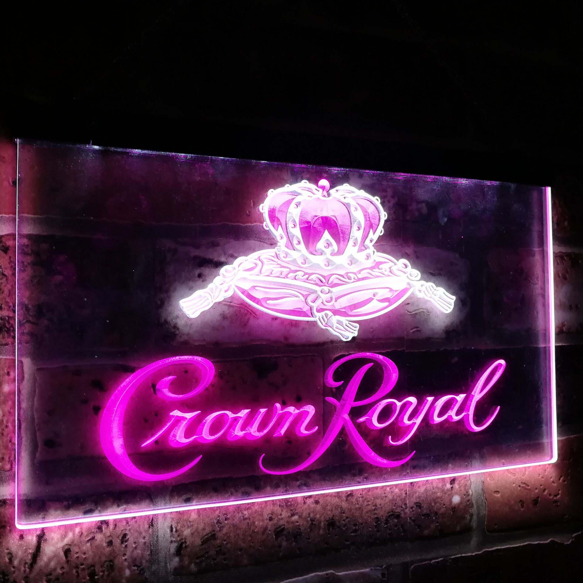 Couronne Royal bière Bar décoration cadeau double couleur Led néon signe st6-a0104