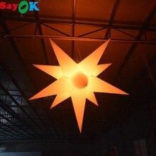 Sayok 1,5/2 м надувные СВЕТОДИОДНЫЙ висит звезда украшения Светящиеся в темноте с 16 Цвета светодиодный свет для свадебная вечеринка для ночного клуба