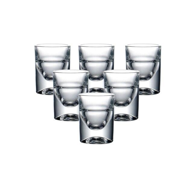 Набор из 6 стеклянных стаканов без свинца, рюмки для ликера, набор для рождественского подарка водки, спиртных напитков, китайский Baijiu, виски...