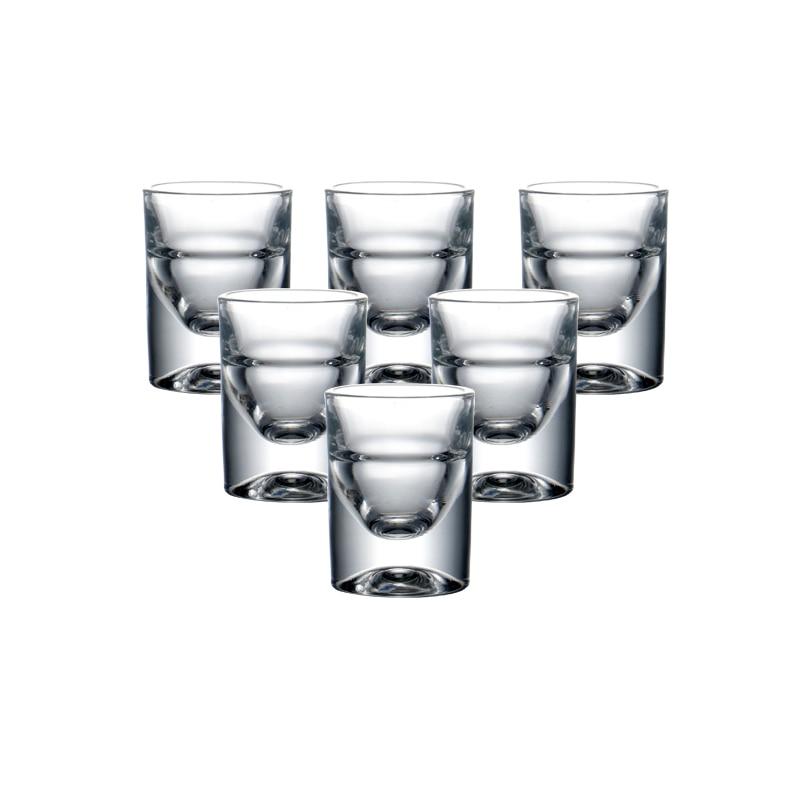 Set of 6pcs Heavy Lead Free Machine Made Shot Glasses for Christmas Gift Liquor Vodka Spirits Drinks Chinese Baijiu Whiskey 15ml