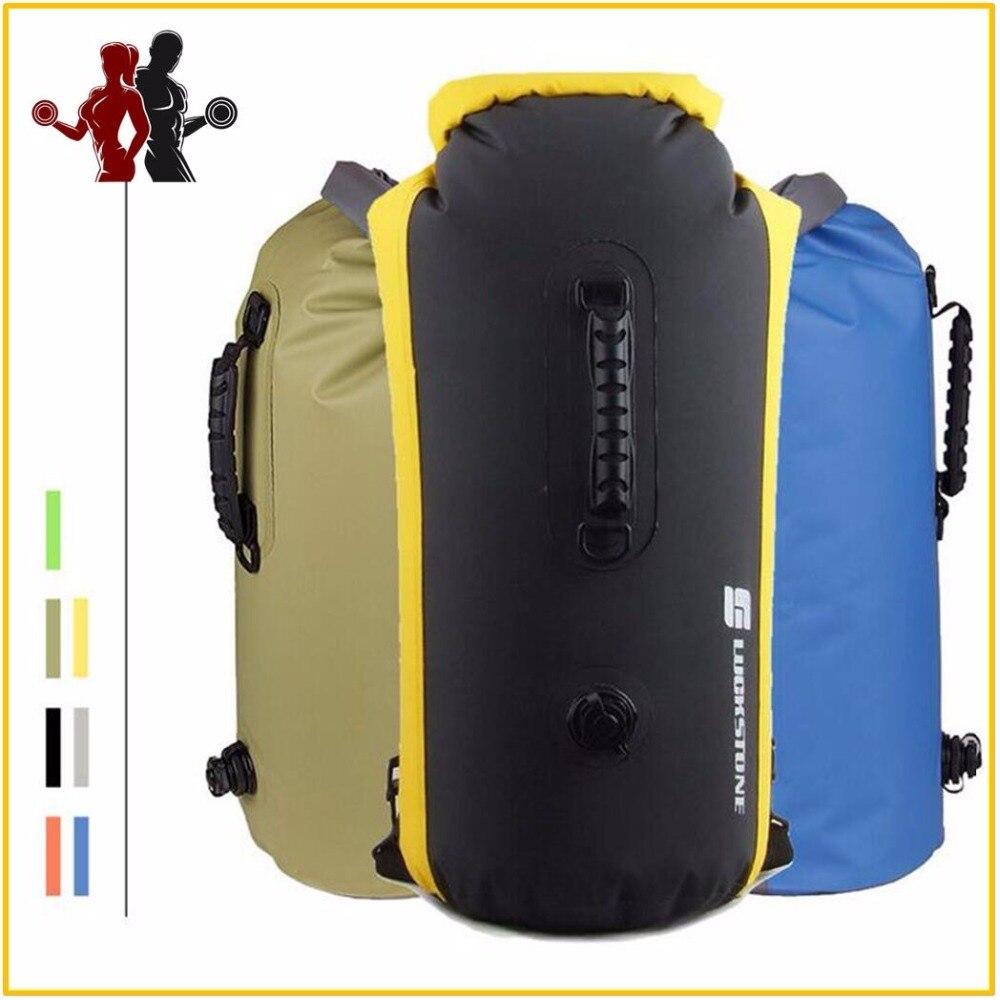 60L grande profesional de natación bolsa impermeable Rafting almacenamiento bolsa seca con correa ajustable gancho deriva buceo seco mochila
