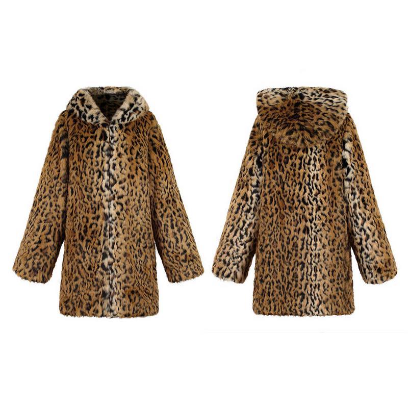 Lungo Pelliccia Inverno Outwear Giubbotti Donna Stampa De Pele Di Autunno Leopardo 2018 Faux Della Leopard Lunga Del Cappotto Donne Manica Caldo Casaco Cappotti lF1TKJ3c