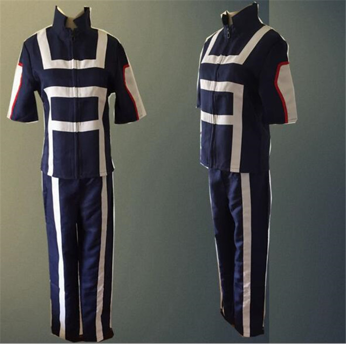 My Hero Academia Sportswear  JP Anime Boku no Hero Bakugou Katsuki Iida Tenya Todoroki Shouto Cosplay Costume  A319