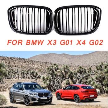 Gloss black Front Kidney Grille Slat Style Grill for For BMW X3 G01 X4 G02 for BMW x3 25i 28i for BMW X4 25I 30I фото