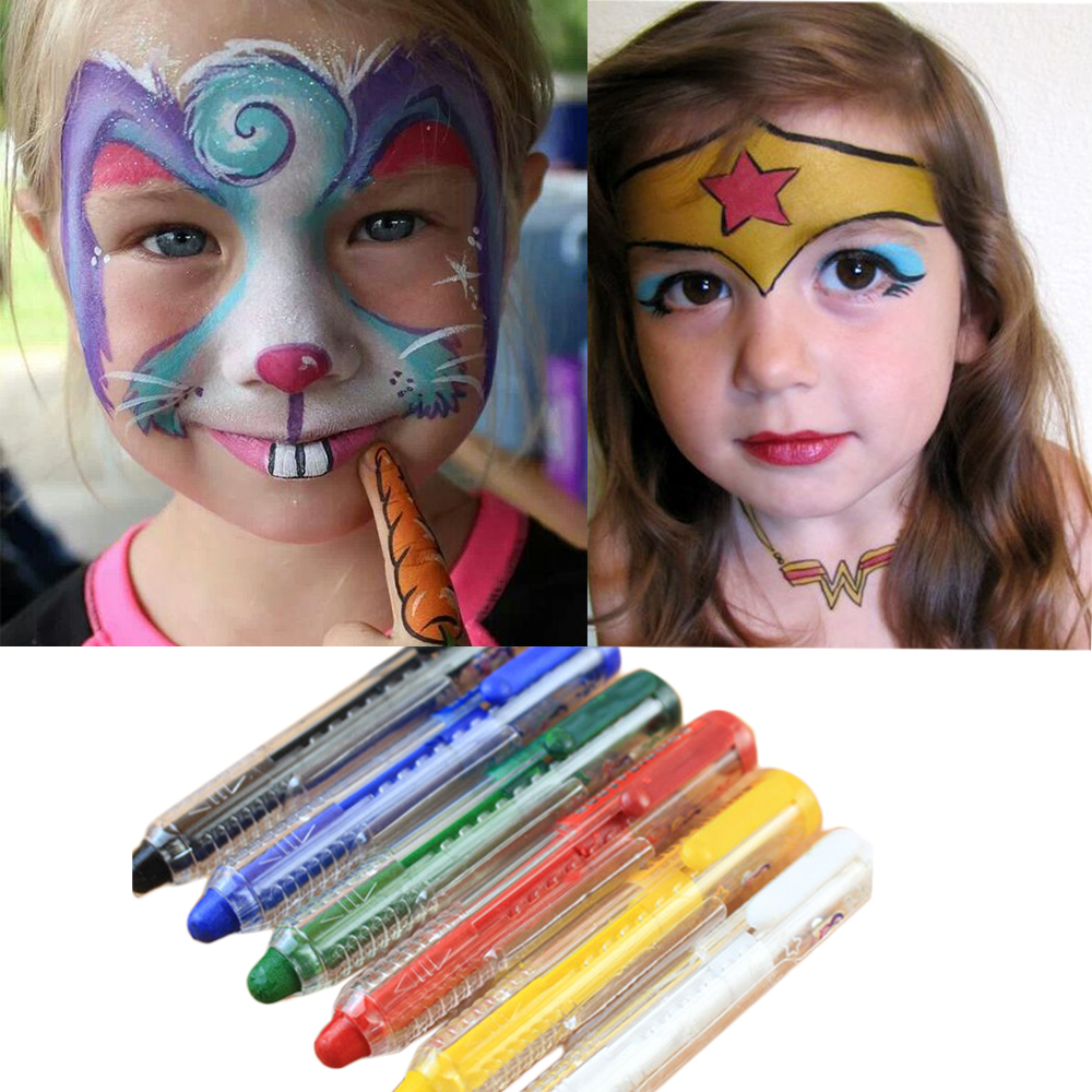 Face Paint Kit For Kids  Safe Non Toxic 6 Color Palette and 12 color palette Professional Quality Childrens Face Painting  gis chino para chinches
