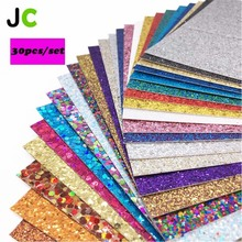 Glitter Cardstock Cardboard Paper  Kids Handmade DIY Scrapbook Craft JC 30pcs/set 12x12 multicolor