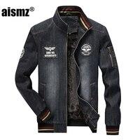 Aismz 2017 New Design Winter Fashion Denim Jacket Men Casual Jeans Coats Outerwear Thicken Slim Fit