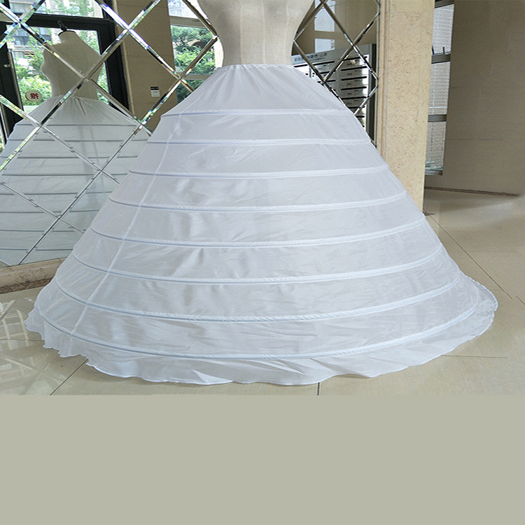 Women Ball Gown Underskirt High Quality 8 Hoops Bride Bridal Petticoats White Wedding Dress Crinoline Performance Petticoat