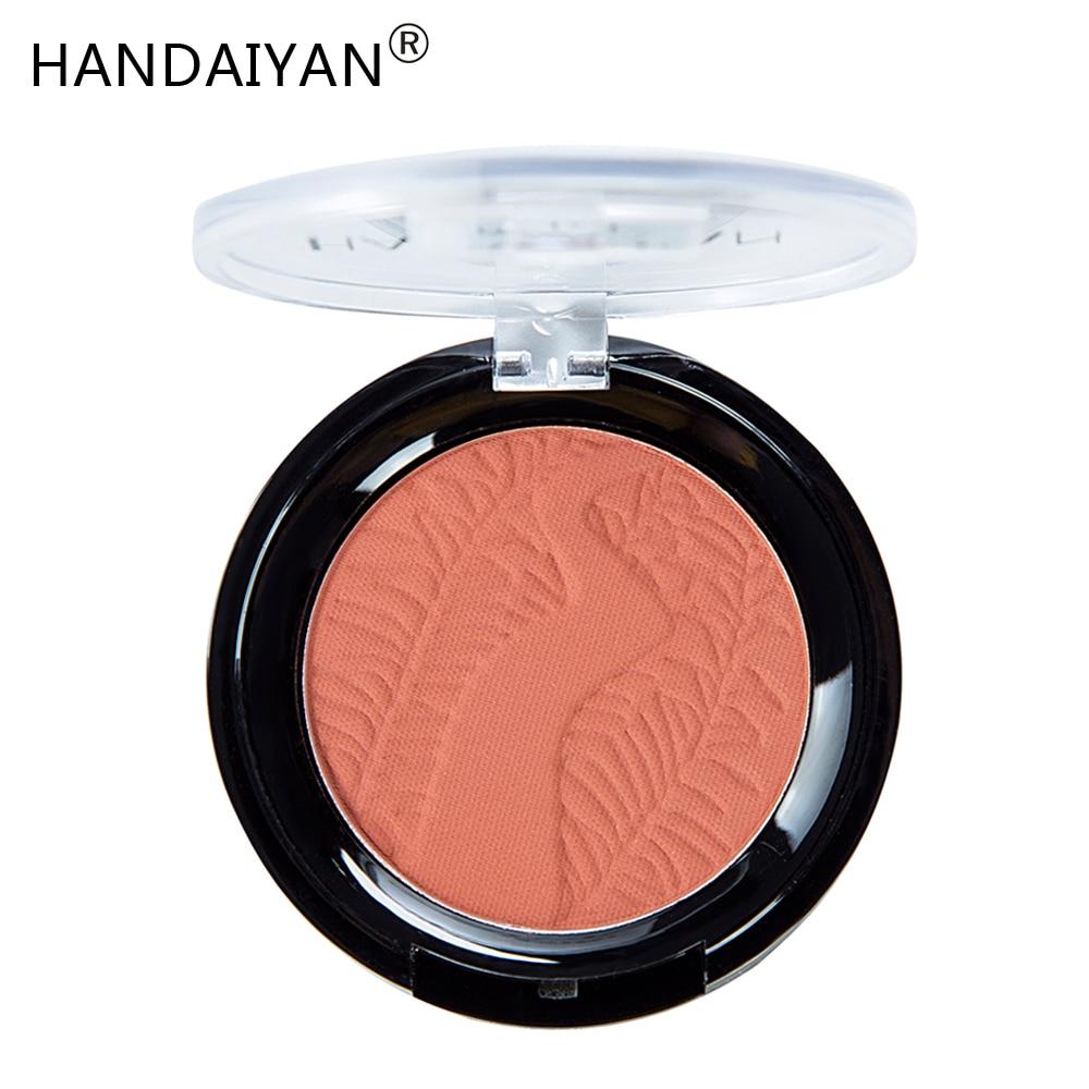 HANDAIYAN Matte Blush Palette Cheek Golden Face Contour Makeup Blush Powder Long-lasting Waterproof Women Cosmetics Blusher