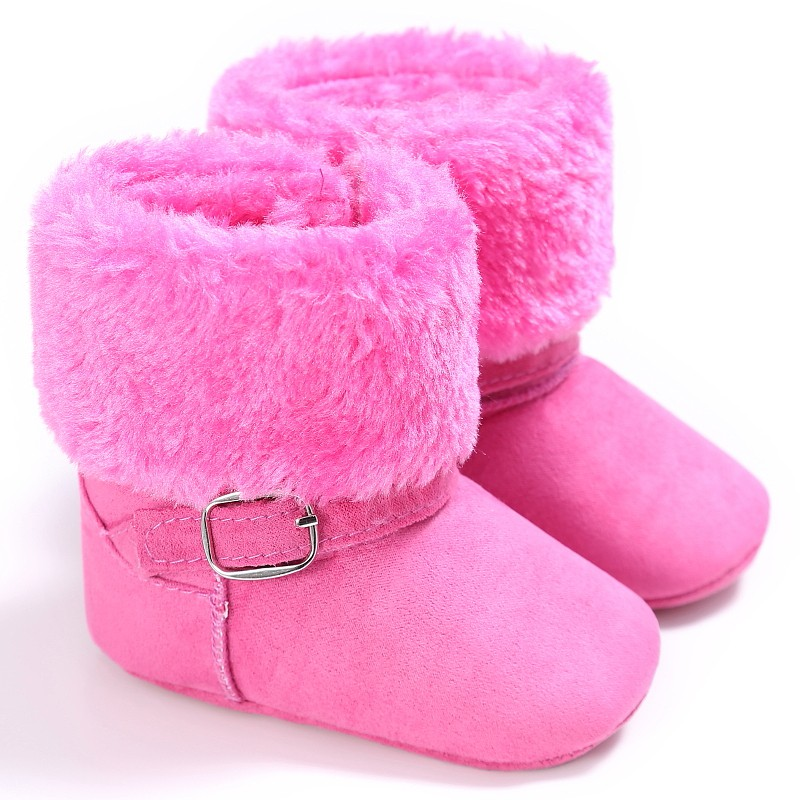 Baby Girls Boys Winter Unisex Snow Kids Warm Fleece Style Boots Anti-skid Cack Shoes ...