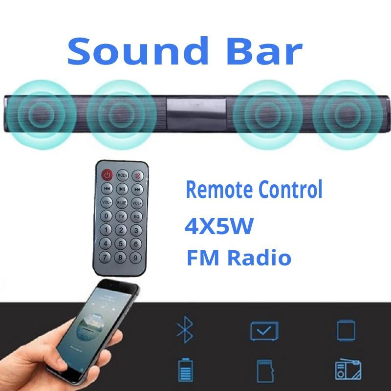 Nouveau sans fil Bluetooth AUX USB haut-parleurs d'ordinateur 2.1 stéréo 20 W barre de son lecteur de musique Boom Box avec télécommande caixa de som