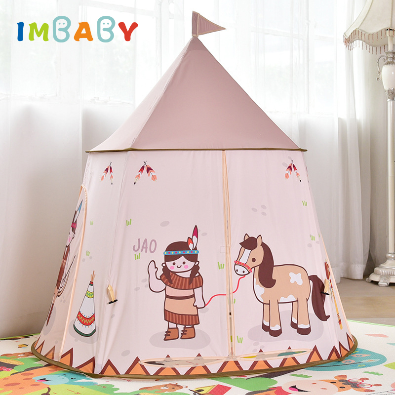 IMBABY Portable Children Tent Playpen Baby Teepee for kids Playhouses Toddler Toys Pool Ball Toy for children Indoor Play Tent yard kids toys tents baby portable foldable cubby play playhouses for kids children teepee
