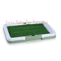 Easy Dog Potty Training Synthetic Grass 3 Layered System Pan Tray in the House Indoor Use Dog Litter Box Dog Lawn toilet
