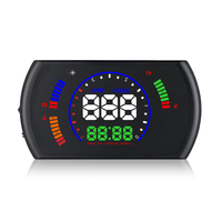 S600 5.8HD Head up Display OBDII OBD2 Car HUD Digital Speedometer Fuel Consumption Overspeed Warning Systerm