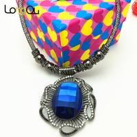 Top Kwaliteit Leuke koala blauw/Rose Goud-kleur Hanger Ketting Oostenrijkse Kristal Groothandel