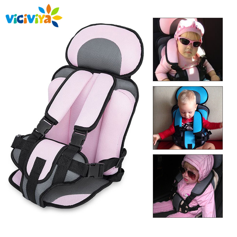 Adjustable Baby Car Seat Safe Toddler Booster Seat Child Car Seats Portable Baby Chair In Cars For 6 Months-5 Years Old Baby  ice cream cart toy
