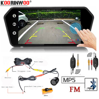 Koorinwoo Car 7 Inch bluetooth TFT LCD Colorful Mirror Monitor Video MP5 Player Remote Control Car Rearview Reverse Camera Back