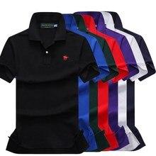 On sale original mesh cotton 2019 Summer small horse men short sleeve polos mens shirts tops 3 embroidery logo shirt 866