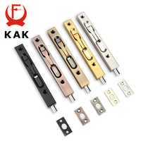 KAK 4/6/8/10 inch Stainless Steel Hidden Door Bolt Security Guard Door Latch Sliding Door Lock Bathroom Bolt Dust Proof Hardware