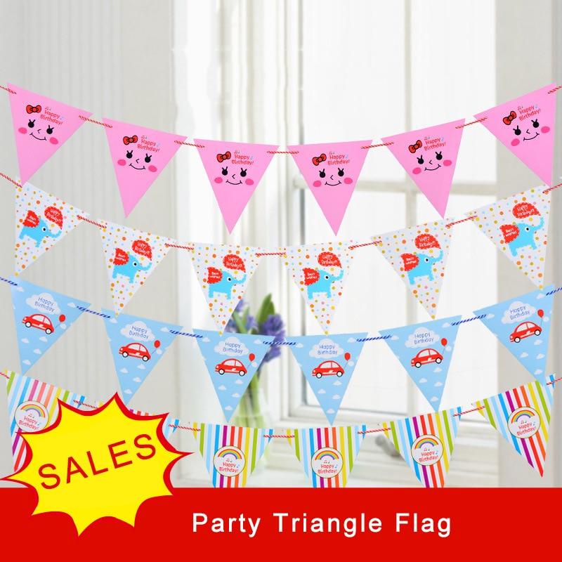 Birthday Flag Korean Version Lovely Cartoon Party Triangle