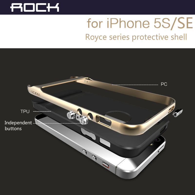 sports shoes 5cc7a d6d21 ROCK Luxury Royce Case For iPhone SE 5 5S Slim Armor cover shell Brand Back  case for iPhone 5s SE-in Fitted Cases from Cellphones & Telecommunications  ...