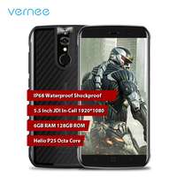 Vernee Active IP68 Waterproof Shockproof Phone Android 7.0 Octa Core 6G+128G 4G LTE Mobile Phone 4200mAh Fingerprint Smartphone