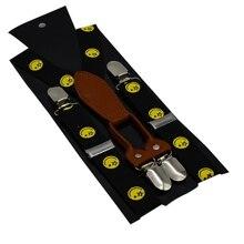 Регулируемый эластичный зажим на одежду для маленьких мальчиков Аксессуары Милые ремни-подтяжки для детей брюки ремень