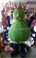 mascot Green Spider Mascot Costume With EPE Head And Mini Fan Green Spider Insect Mascotte Outfit