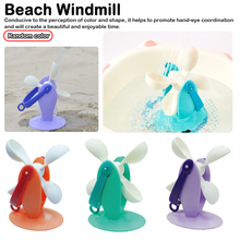 1Set Children Soft Rubber Rotatable Windmill Shower Castle Mould Beach Bucket Harrow Toy Sand Set Molds Tool