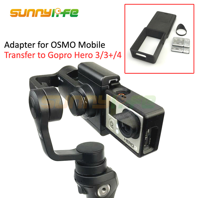 Adapter Switch Mount Plate For DJI OSMO Mobile Gimbal Camera Suitable GOPRO Hero 4 3