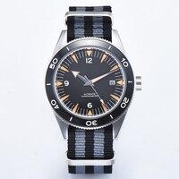 남성 시계 41mm 사파이어 세라믹 무균 다이얼 miyota  갈매기 자동 스포츠 방수 남자 시계 기계식 손목 시계