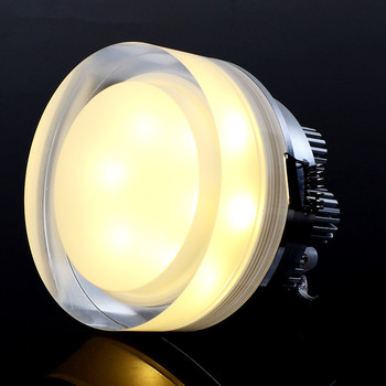 DVOLADOR Round 15W 10W 5W 1W LED Crystal Downlight LED Ceiling Spot Light Warm White/White LED Recessed Lamp for Home Decoration