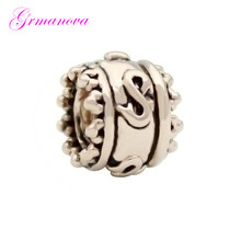 Retro rose gold color charm beads DIY jewelry classic fashion jewelry amulet Fit Pandora Bracelet Women's DIY Jewelry(China)