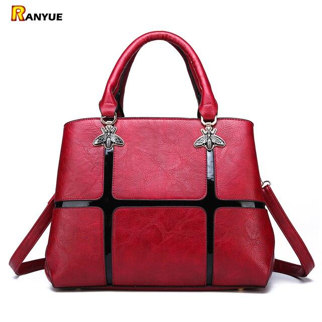 4b1c3050dc9 US $22.99 44% OFF|Luxury Bee Bags Women Handbags Designer Shoulder Bags  Ladies Casual Tote Sac a Main Femme Pu Leather Crossbody Bags For Women -in  ...