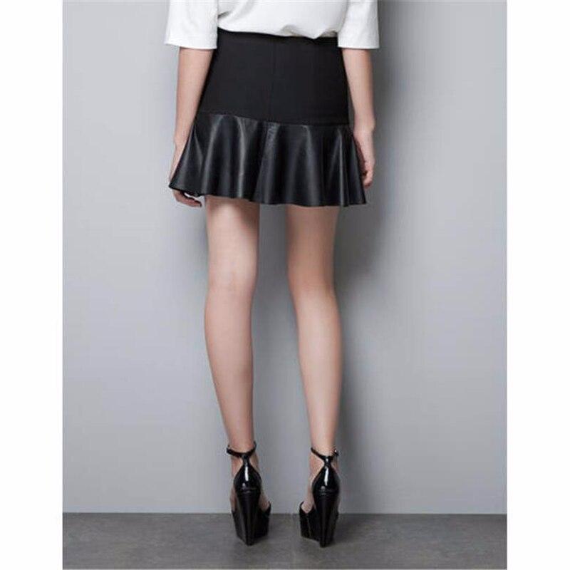 Новые Изысканные Для женщин юбки Искусственная кожа милые эластичные Высокая