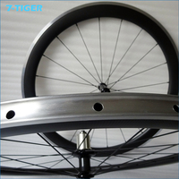 700c Aluminum Bicycle Wheelsets Carbon Clincher Wheel Alloy Bike Wheel 50mm High 23mm Width With Alloy