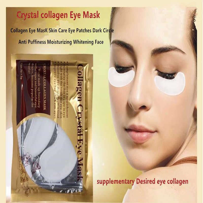 50packs=100pcs Crystal Collagen Eye Mask Eye Patches Dark Circle Anti Puffiness Moisturizing Whitening Anti-aging Skin Care