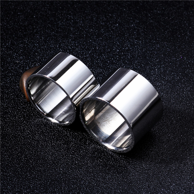 Linght Polish 14MM 18MM Titanium Ring For Men Women Couple Ring