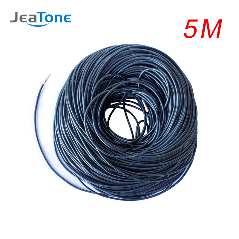 JeaTone Video Extend Cable 4x0.12mm 5 Meters Tinned Copper Wire Free Shipping