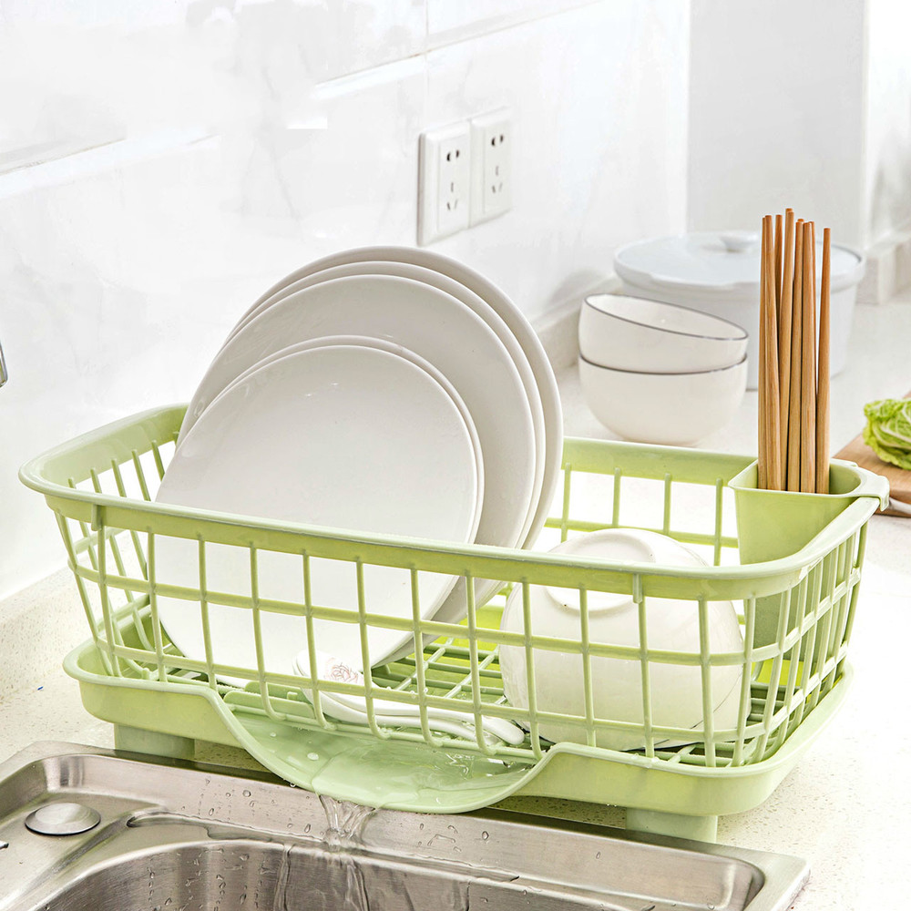 A1 Tableware storage rack kitchen dish drain rack multi function plastic dish shelf vegetable and fruit rack wx11061018