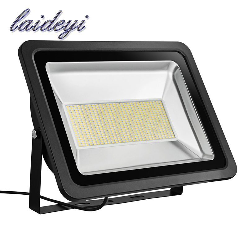 LAIDEYI LED FloodLight 300W AC220V IP65 Waterproof LED Flood Light Spotlight Outdoor Wall Lamp Garden projector reflector 5Pcs led flood light outdoor spotlight floodlight 10w 20w 30w 50w wall washer lamp reflector ip65 waterproof garden 220v rgb lighting