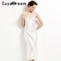 100% pure silk long nightgowns women Sexy sleepwear Home dresses SILK nightdress SATIN nightie Summer style dress White Black